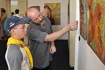 Vernisáž výstavy obrazů Petra Beneše v Kácově