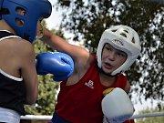 Kutnohorský kickboxer Sebastien Macháček v akci.