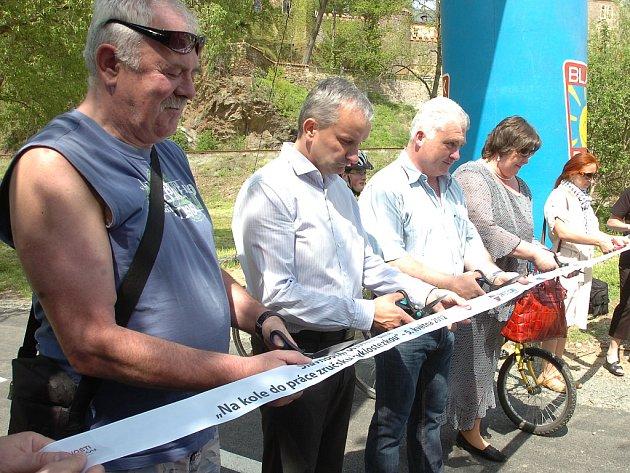 Otevření nové cyklostezky. 5.5. 2012