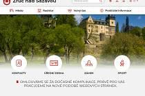 Nová podoba webových stránek města Zruče nad Sázavou, ještě s upozorněním na možné komplikace při jejich zobrazování.