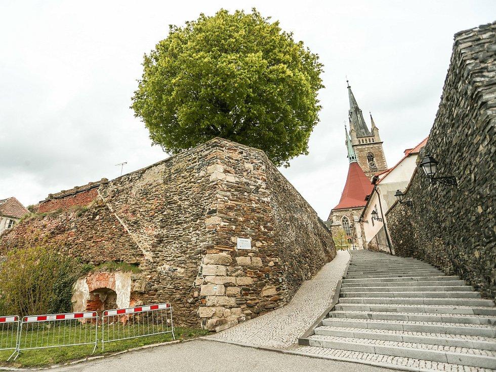 Hradby nad Podměstským rybníkem v Čáslavi.