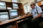 Obsluha kamerového systému Městské policie v Kutné Hoře.