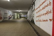 Podchod na hlavním vlakovém nádraží v Kutné Hoře.
