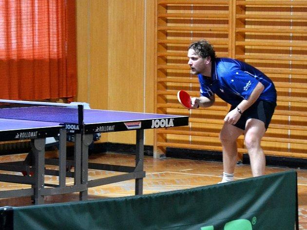 Kutnohorský stolní tenista Martin Vala.