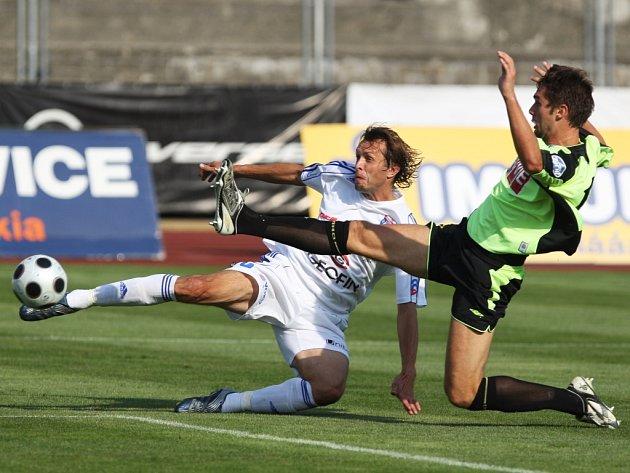 Z utkání II. ligy Vítkovice - Čáslav 1:3, pátek 22. srpna 2008