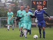 Páté kolo fotbalového okresního přeboru: SK Zbraslavice - TJ Sokol Červené Janovice 5:2 (2:0).