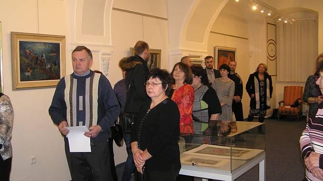 František Jelínek vystavuje svá díla v Čáslavi.