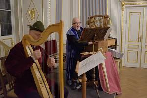 Tříkrálový koncert souboru Musica di chiesa v Zrcadlovém sále na zámku ve Zruči nad Sázavou.