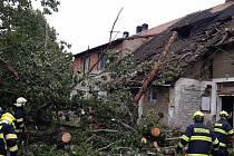 Zásah hasičů v Čáslavi.