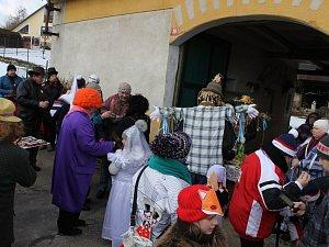 Při miřetickém masopustu místní oslavovali olympijská vítězství.
