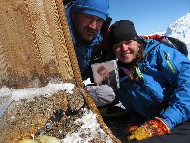 Tomáš Pilc se svou výpravou na Matterhornu.