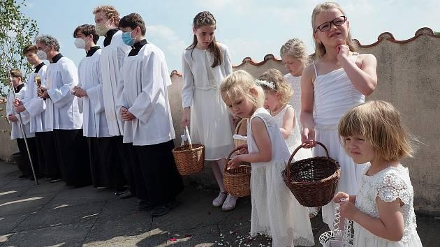 Slavnost Těla a krve Páně, katedrála sv. Barbory a kaple Božího Těla, Kutná Hora, 6. června 2021.