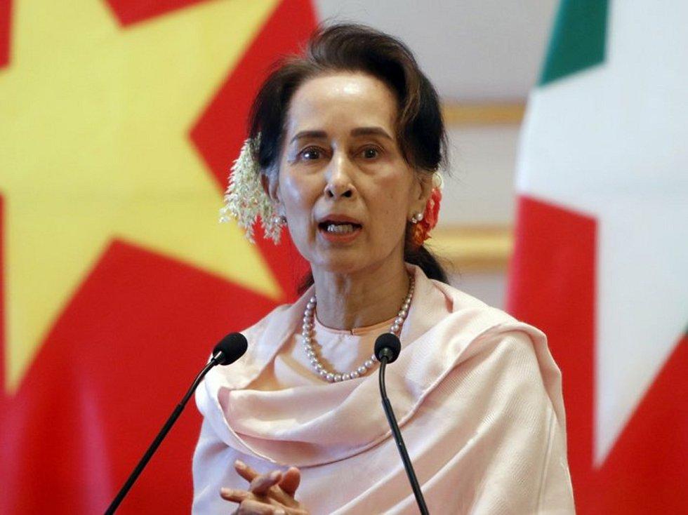 Šefka barmské vlády Do Aun Schan Su Ťij na snímku ze 17. prosince 2019.
