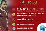 Pozvánka na testování fyzické a technické připravenosti hráčů v Čáslavi.