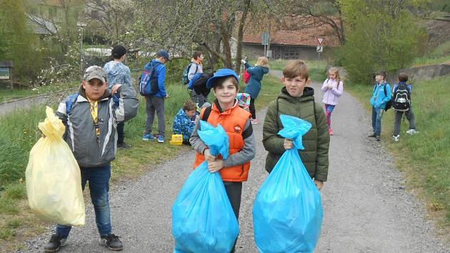 Žáci Základní školy T. G. Masaryka v Kutné Hoře si připomněli Den Země.