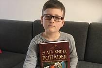 Štěpán Žatečka, žák druhé třídy v Základní škole v Malešově.