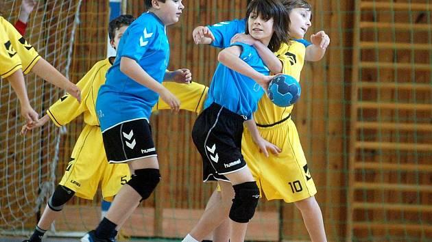 Házenkářský turnaj mladších žáků, 28. ledna 2012.