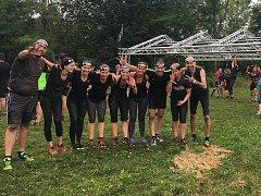 Část týmu SRTG Kutná Hora během sobotního Spartan Sprintu v Litovli.