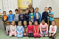 Základní škola Čáslav náměstí, třída 1. A. paní učitelky Miloslavy Klímové.