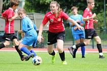 Z fotbalového přípravného zápasu mladších žáků: FK Čáslav dívky - AFK Bratčice 4:4 (4:0).
