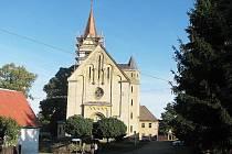 Kostel sv. Martina v Červených Janovicích.