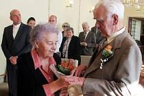 Diamantová svatba se uskutečnila o víkendu ve Zbraslavicích.
