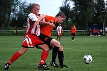 Nedohrané finále Okresnifotbal.cz Superpoháru 2013 mezi Viktorií Sedlec a Kutnou Horou B, 4. srpna 2013.