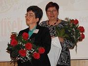 Anita Moravec Gard se sestřenicí Martou Šenkapounovou na kolokviu v Čáslavi.