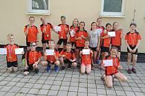 Přípravka SKP Olympia Kutná Hora na závodech v Nymburce 30. června 2020.