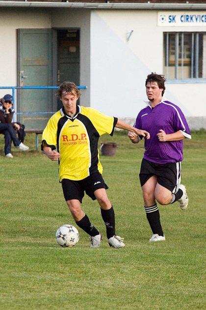 Z utkání III. třídy Církvice - B. Podolí B, sobota 27. září 2008