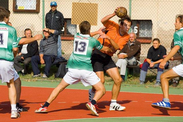 Z utkání SRL házené K. Hora - Úvaly, sobota 27. září 2008