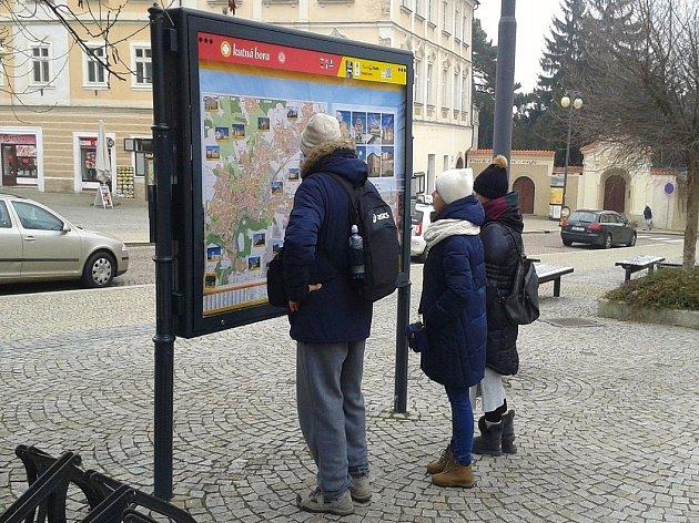 Informační portál na náměstí Palackého v Kutné Hoře