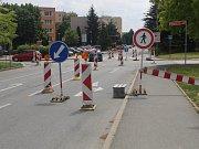U Kauflandu v Kutné Hoře začala výstavba nové kruhové křižovatky.