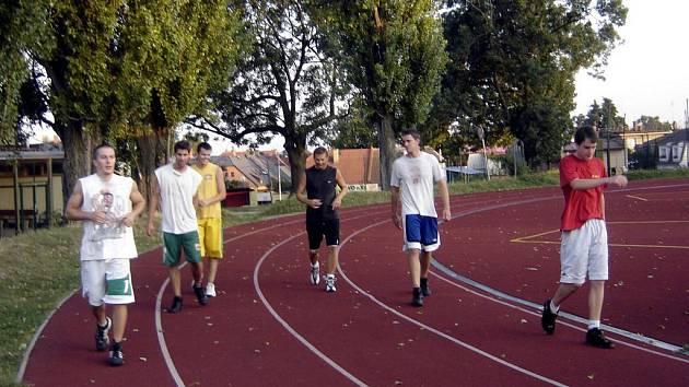 Basket: První trénink kutnohorských basketbalistů, úterý 25. srpna 2009