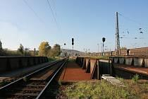 Úvraťová trať na hlavním nádraží v Kutné Hoře.