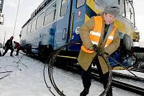 U kolínského Sandberka vykolejil nákladní vlak