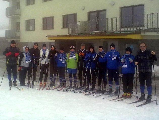 Čáslavské fotbalistky na zimním soustředění.