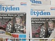 Titulní strana dvacátého pátého čísla týdeníku Kutnohorský týden.