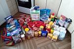 Potravinový balík, který poskytuje organizace Patron dětí.