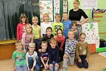 Základní škola Zbýšov, první a druhá třída, paní učitelka Ivana Samohelová.