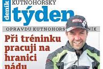 Titulní strana třicátého prvního čísla týdeníku Kutnohorský týden.