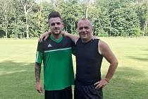 Syn a otec. Michal Král (vlevo) s Pavlem Králem.