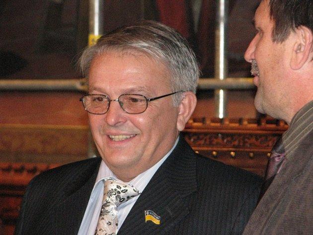Přivítání delegace partnerského ukrajinského města Kamenec Podolský v Rytířském sále Vlašského dvora.