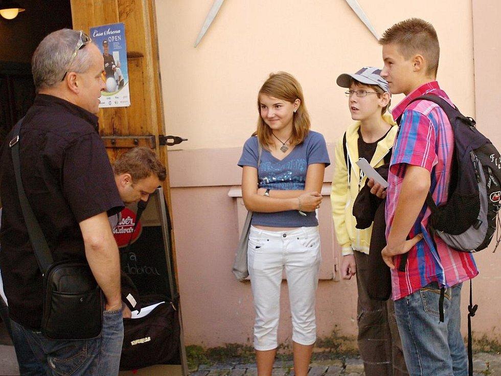 Natáčení dílu vzdělávacího projektu Vzduchoplavec se uskutečnilo také v Kutné Hoře.