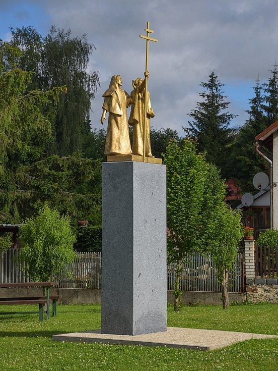 Z odhalení sousoší věrozvěstů Cyrila a Metoděje v Rápošově.
