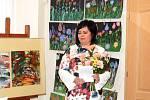 Ze zahájení výstavy výtvarného oboru Základní umělecké školy Jana Ladislava Dusíka v Čáslavi.