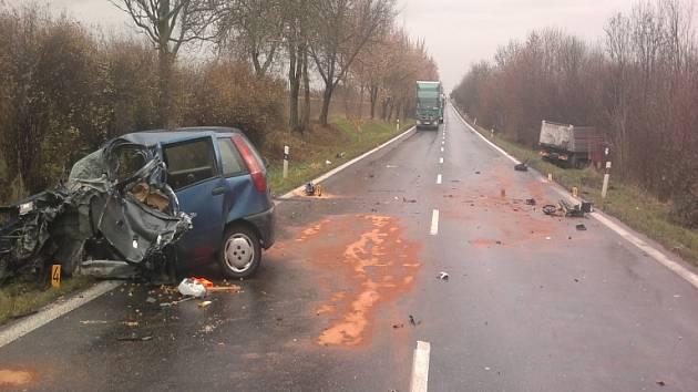 Nehoda u obce Horky 30.listopadu