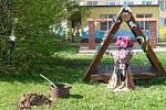 Oslavy čarodějnic v Mateřské škole Ostrý roh v Čáslavi.