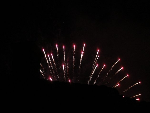 Ohňostroje nad Kutnou Horou 1. ledna 2016