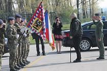 Prezident Miloš Zeman na návštěvě 21. základny taktického letectva Čáslav 29. dubna 2015
